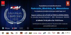 GALA ANUAL DE CAMPEONES F.M.M. 2020 – 10 DE JULIO