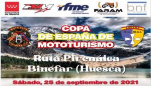 EL MOTOTURISMO RETORNA EL 25 DE SEPTIEMBRE EN PIRINEOS